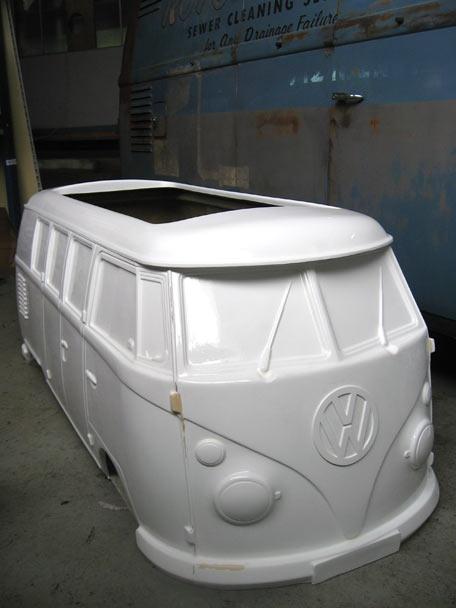 Ficticio de furgoneta Volkswagen en resina y fibra de vidrio