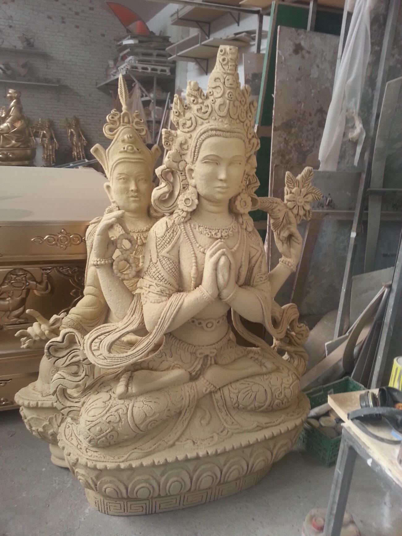 Escultura religiosa porexpán y Polyurea