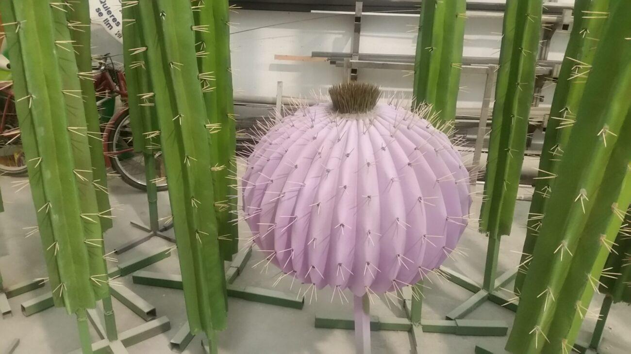 Cactus resina y fibra de vidrio
