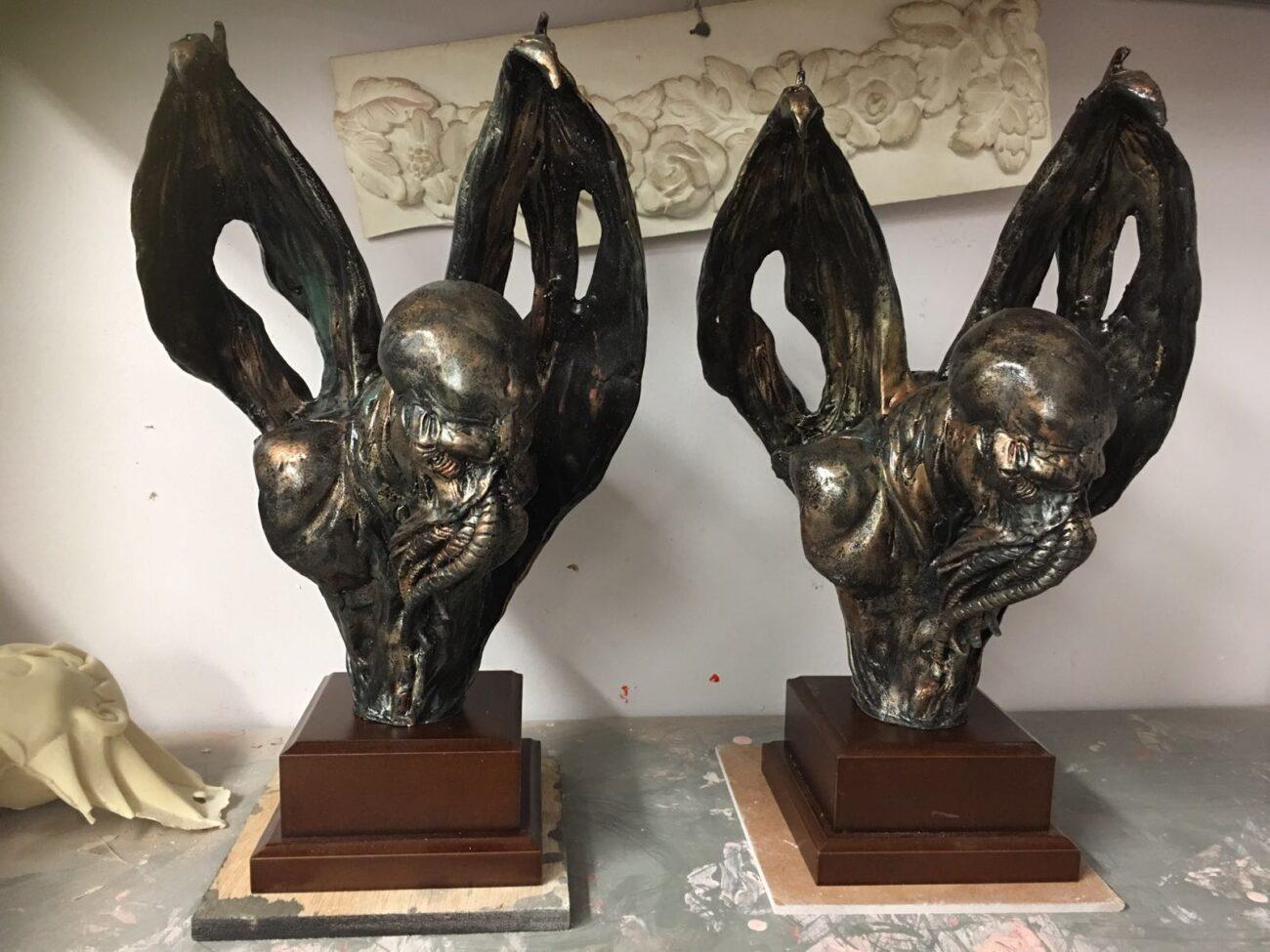 trofeos para el Festival de Cine nocturna en resina