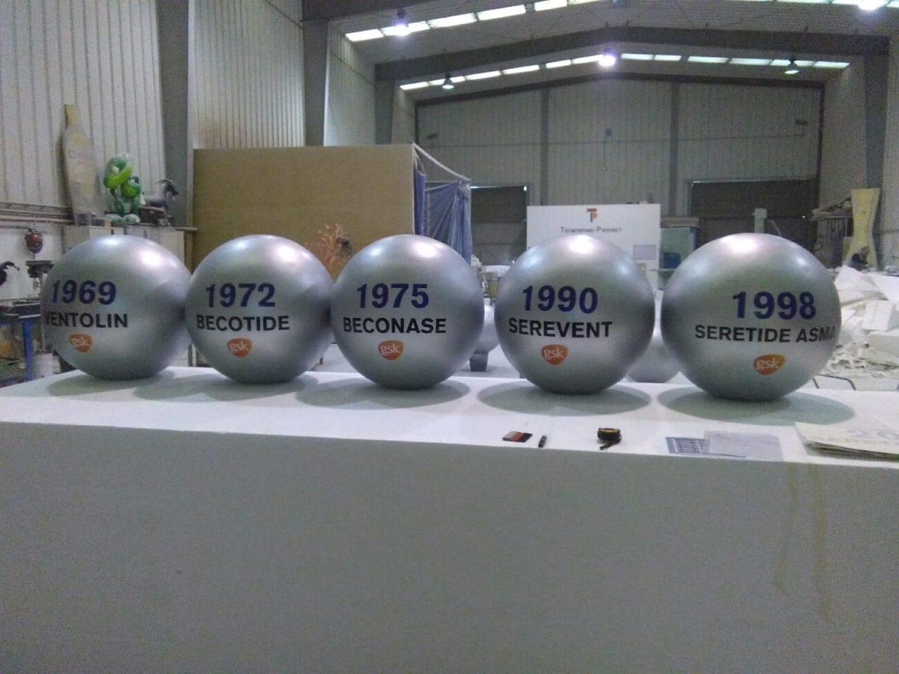 Esferas GSK resina y fibra de vidrio