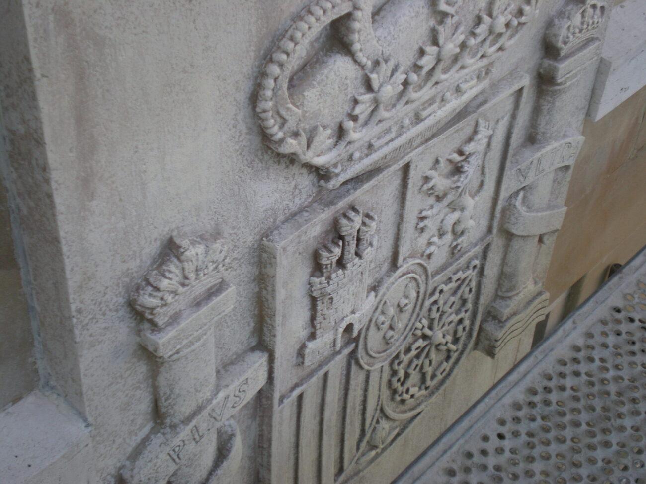 Escudo de España en resina