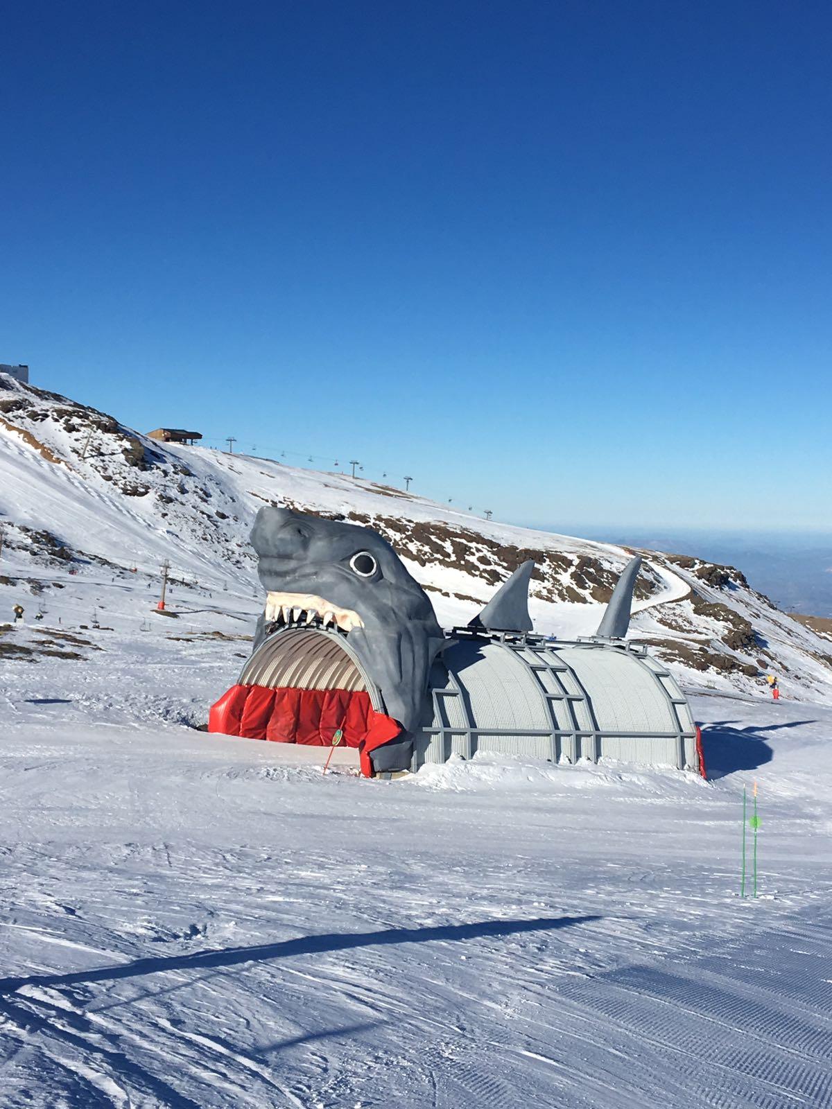 Figuras para estación de esquí en porexpan 1